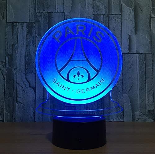 7 Couleur Lampe 3D Visual Led Veilleuses Pour Enfants Toucher Usb Lampe De Table Lampe Veilleuse Paris Saint Football