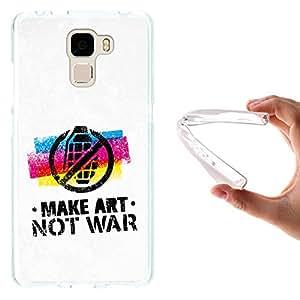 WoowCase - Funda Gel Flexible { Huawei Honor 7 } Grafiti Make Art Not Ware Carcasa Case Silicona TPU Suave