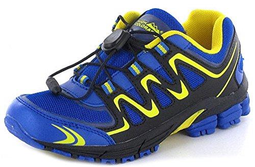 High Colorado Express Junior-Trekkingschuhe - blau gelb Größe:35