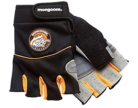 Mongoose Half-Finger Gloves (Small/Medium) - Mongoose Comfort Bike