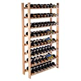 Wood Wine Holder – 120 Bottle Wood Wine Rack 8 Tier Storage Display Shelves Kitchen Natural Wine Bottle Holder For Sale