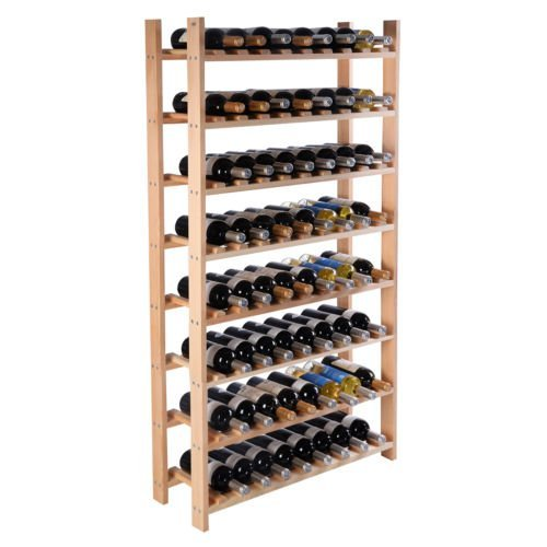 Wood Wine Holder - 120 Bottle Wood Wine Rack 8 Tier Storage Display Shelves Kitchen Natural Wine Bottle Holder by GloryBear