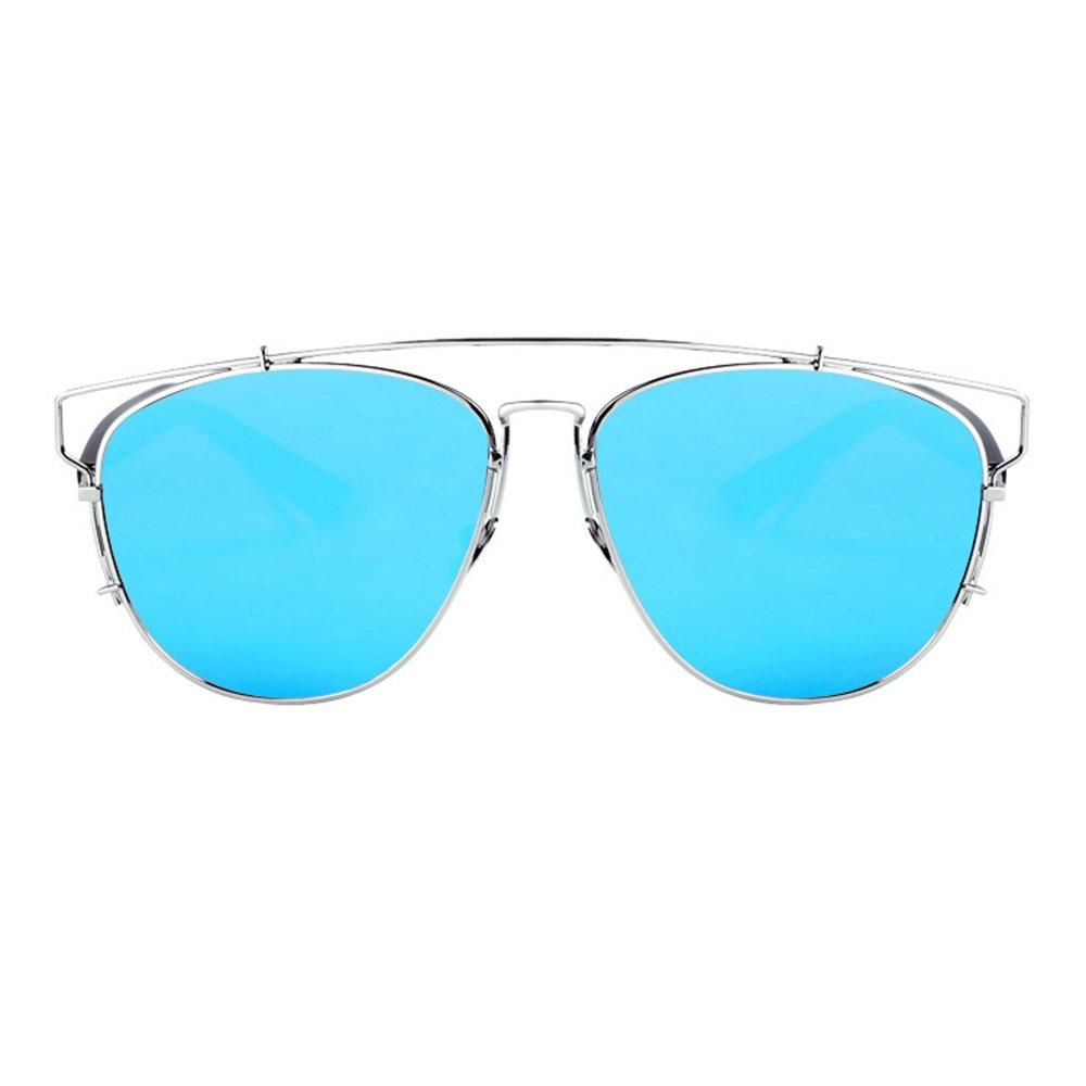 LVZAIXI Aviator lunettes de soleil, lentilles noires, avec une poche à  cordon, Mens, Womens, unisexe complet ( Couleur   Bleu ) d2313e938427