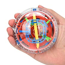 Billila 75 Barriers 3D Labyrinth Magic Intellect Ball Balance Maze Perplexus Puzzle Toy (A)