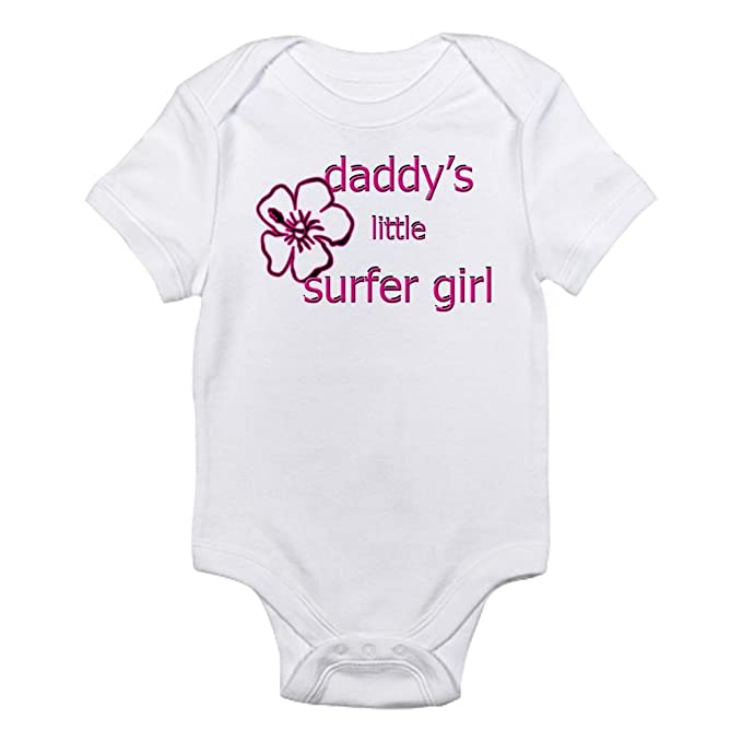 5199382db3 CafePress Daddy's Little Surfer Girl Infant Baby Bodysuit