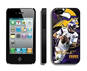 NFL Minnesota Vikings Brett Favre iphone 4 4S Casecell phone cases&Gift Holiday&Christmas Gifts NFIU8714078 by heywan