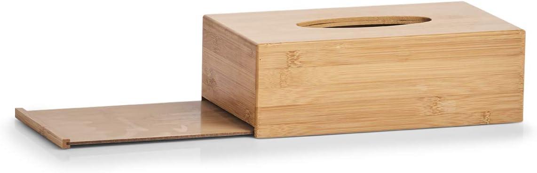 27x15x8.5 cm Beige Zeller 25305 Scatola per Salviette Bamb/ú