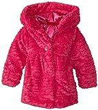 Pistachio Little Girls' Scallop Faux Fur Coat