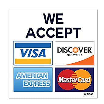 Zany image regarding we accept credit card signs printable