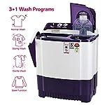 LG 8 Kg 5 Star Semi-Automatic Top Loading Washing Machine (P8035SPMZ, Purple, Collar Scrubber)