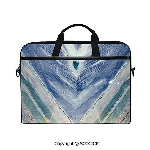 Printed Laptop Bags Notebook Bag Covers Cases Onyx Stone Tribal Style with Color Elements Agate Authentic Pattern Decorative with Adjustable Strip and Zipper Closure ()
