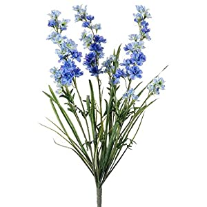 "24.5"" Silk Delphinium Flower Bush -Blue (pack of 12) 30"