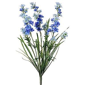 "24.5"" Silk Delphinium Flower Bush -Blue (pack of 12) 22"