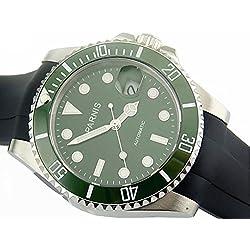Parnis 40mm Ceramic Bezel Sapphire Glass Miyota Automatic Mens Watch 1470