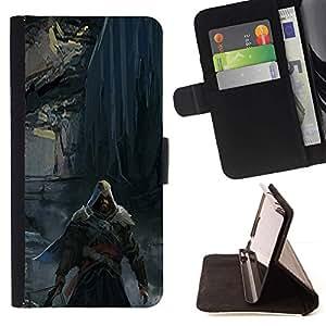 Momo Phone Case / Flip Funda de Cuero Case Cover - Asesino oscuro;;;;;;;; - HTC One A9