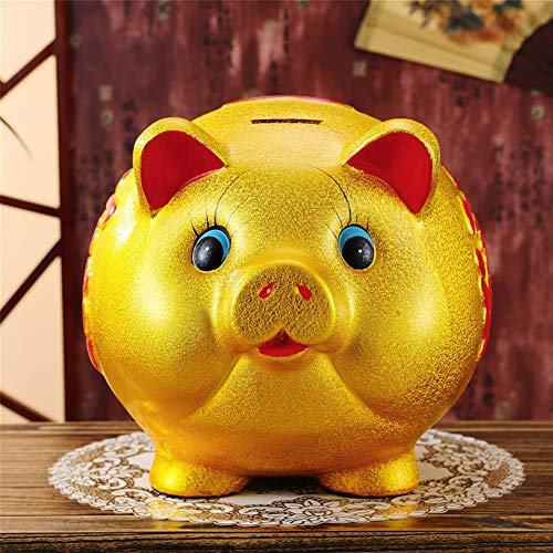 16'' Gold Pig Lucky Porcelain Fortune Pig Money Box Piggy Bank by FANCY PUMPKIN (Image #2)