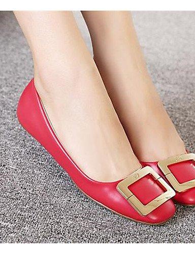 negro plata de mujer la 5 uk3 talón Toe Square de zapatos rojo cn35 Soporte 5 red PDX Flats eu36 Casual us5 XWaOPqt
