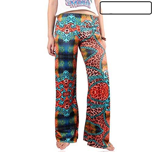 Tempo Sciolto Estivi 2 Pantaloni Eleganti Chic Elastica Per Colour Donna Cute Stampate Mieuid Pantalone Accogliente Vita Libero Larghi Vintage Fashion nYS1qRzRFw