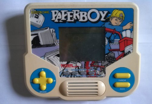 1988 Tiger Electronics, Inc. Tiger Electronics Electronic Paperboy LCD Interactive Hand-held Game (Copyright 1984 Tengen. All Rights Reserved. Trademark Atari Games Corporation)
