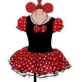Dressy Daisy Girls' Minnie Mouse Halloween Fancy Dress Dance Costume w Headband