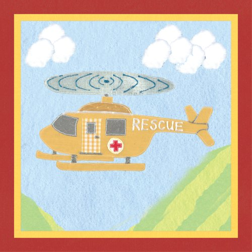Art-4-Kids-Rescue-Helicopter-Mounted-Art-Print-12x12