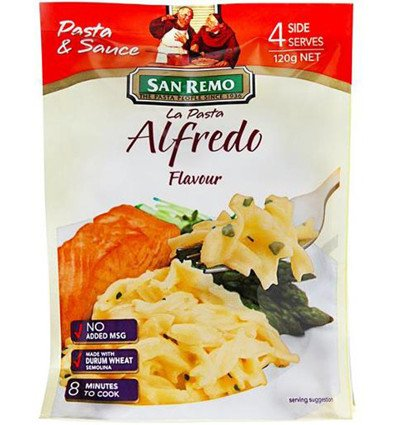 La Pasta Alfredo 4 Sirve 120gm
