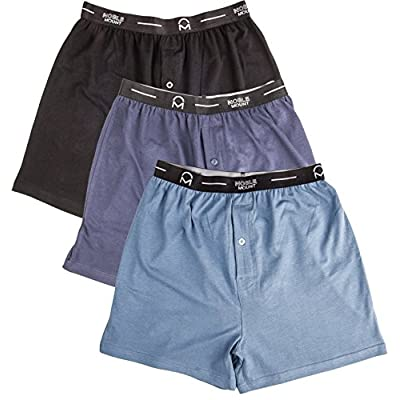 Cheap Noble Mount Mens Knit Boxers 3-Pack (95% Cotton 5% Spandex)