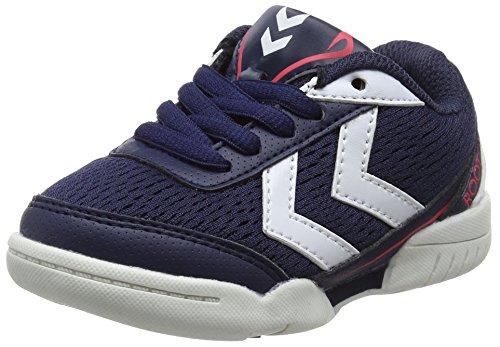 Hummel Root Jr Lace, Zapatillas Deportivas Para Interior Unisex Niños Azul (Peacoat)
