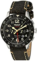 Ingersoll Men's IN3224BK Bison No. 69 Analog Display Automatic Self Wind Black Watch