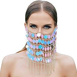 Pearl 02 Masquerade Mask Chain