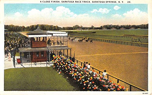 Saratoga Springs New York Race Track Horse Racing Antique Postcard - Saratoga Stores Springs In