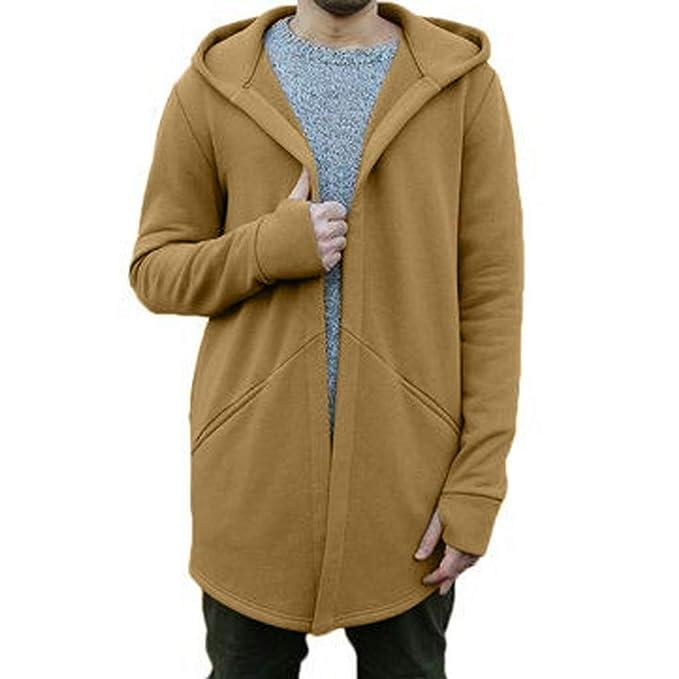Sylar Abrigos De Hombre Invierno Elegantes, Simple Color Sólido con Capucha Manga Larga Suelto Cardigan Rompevientos Outwear Chaquetas: Amazon.es: Ropa y ...