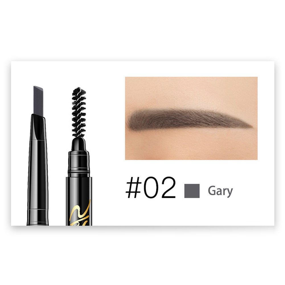 Double-end Eyebrow Pencil, DZSJ Automatic Rotating Waterproof Ultra-fine Cosmetics Makeup