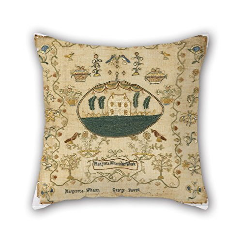 (18 X 18 Inches / 45 By 45 Cm Oil Painting Margereta Whann, American - Sampler Throw Cushion Covers Both Sides Ornament And Gift To Festival Outdoor Office Drawing Room Chair Bar for Christmas)