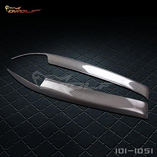 Gts Headlight Covers Carbon Fiber - car-wear Carbon Fiber Headlight Eyebrow Eyelid for Nissan Skyline R32 GTR GTS GT-R 1990-1994