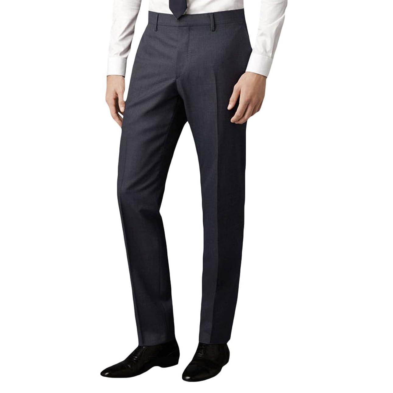 問い合わせる小切手大胆なビジネススラックス メンズ スリム 光沢 美脚 通勤 ロングパンツ ノータック ストレート 仕事着 オールシーズン