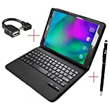 Samsung Galaxy Tab S2 Nook Keyboard case, KuGi ® High quality Ultra-thin Detachable Bluetooth Keyboard Stand Portfolio Case / Cover+ Free stylus for Samsung Galaxy Tab S2 /Nook tablet. (Black)