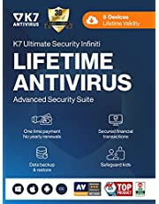 K7 Ultimate Security Infiniti Lifetime Validity Antivirus 2021 | 5 Devices | Threat Protection ,Internet Security,Data Backup,Mobile Protection| laptop,PC, Mac®,Phones,Tablets,iOS | 24 hr Email Delivery