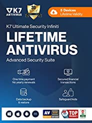 K7 Ultimate Security Infiniti Antivirus 2021 for Lifetime Validity | 5 Devices | Threat Protection ,Internet S