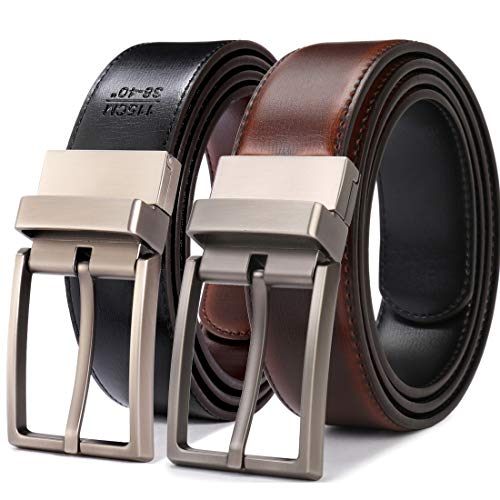 (Beltox Fine Men's Dress Belt Leather Reversible 1.25