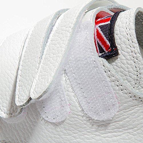 HBDLH-Damenschuhe Boden Herbst Weiße Schuhe Frauen Wilde Blaumen Flachen Boden HBDLH-Damenschuhe Klett Casual Schuhen Dicke Sohle Einzelne Schuhe. 45657c