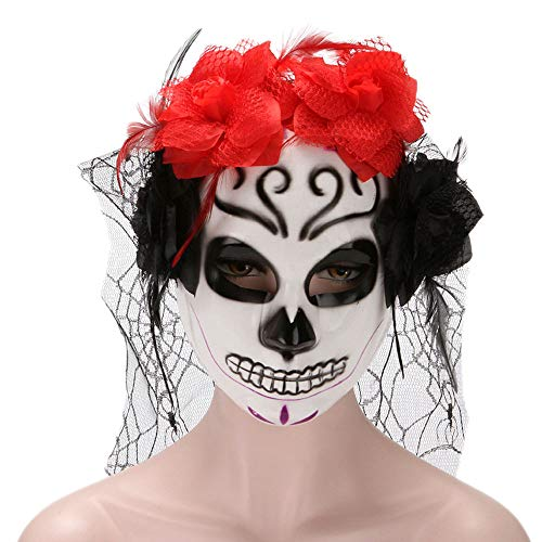 Rehoty Women's Masquerade Mask Mexican Day of The