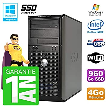 Dell PC 755 Torre Intel E5200 RAM 4 GB SSD 960 GB grabadora DVD ...