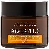 Alma Secret POWERFUL C Crema Iluminadora Antiedad con Vitamina C, Ginseng & Moringa. SPF