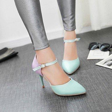LvYuan Mujer-Tacón Stiletto-Otro-Sandalias-Exterior Oficina y Trabajo Informal-PU-Azul Rosa Blanco Pink