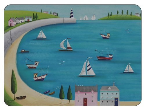 Plymouth Pottery - Harbour View Placemats - Set of 6 by Plymouth Pottery (Place Pottery)