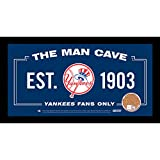 MLB Man Cave Sign 6x12 Framed Photo With Authentic Game-Used Dirt (MLB Authenticated)