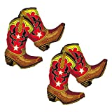 Set of 2 Dancing Cowboy Boots Jumbo 36'' Foil Party Balloons