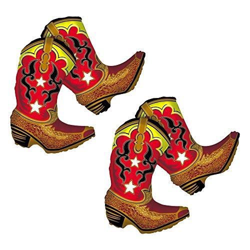 Set of 2 Dancing Cowboy Boots Jumbo 36