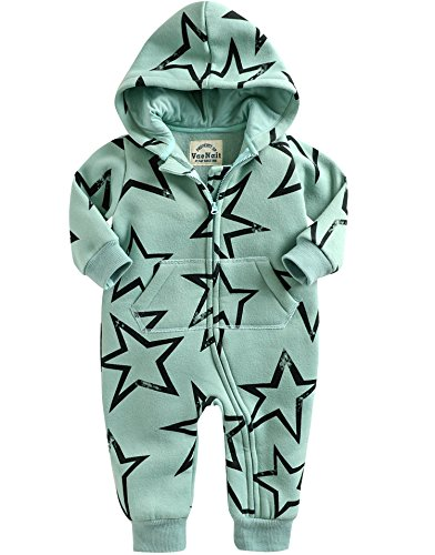 Vaenait Baby 56-80 Winter Schafwolle Mutze Overall Oberekleidung Safari Warm Twinkle Mint L